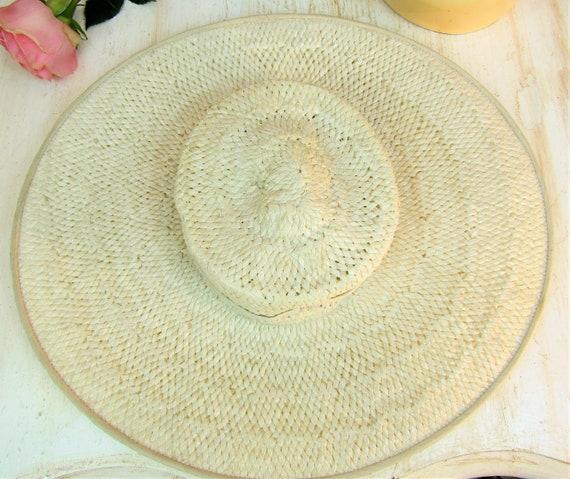 Vintage 1930s Wide Brim Straw Hat Most Vintage 19… - image 10