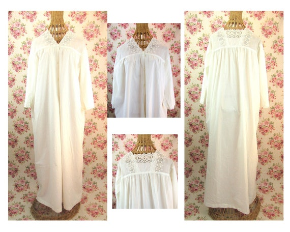 Antique Edwardian Nightgown Size M Lovely Edwardia