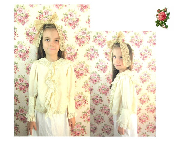 Antique Edwardian Child's Blouse Size 8 1900s Litt