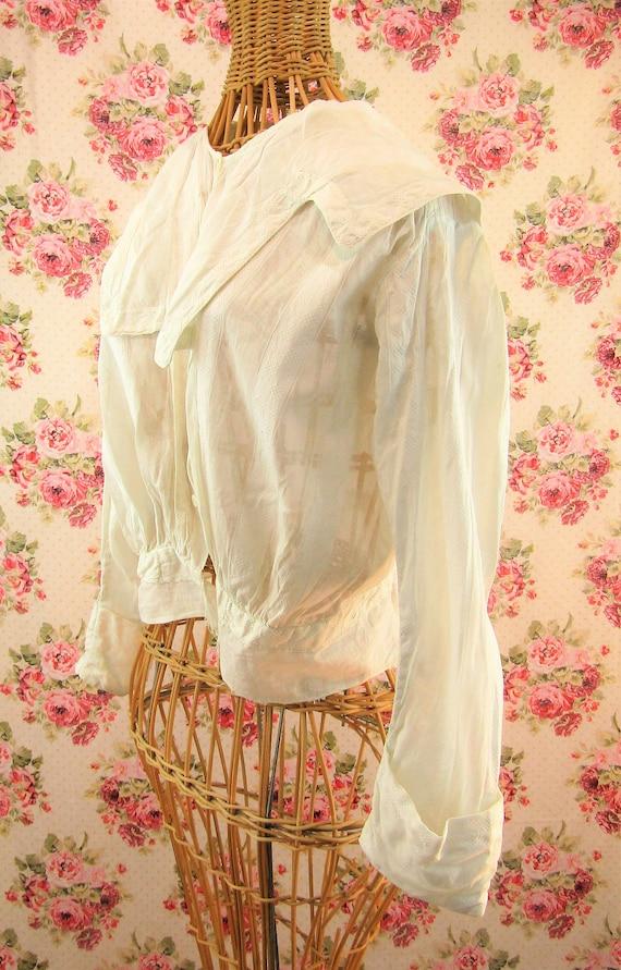 Antique Edwardian Blouse Shirtwaist Size Medium A… - image 3