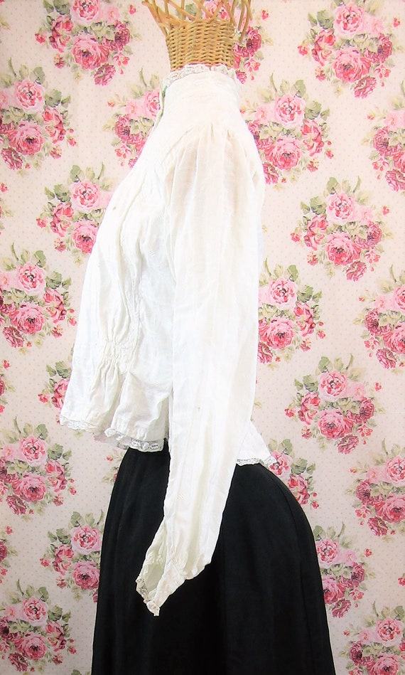 Victorian Blouse Size XS 1800s Victorian Shirtwai… - image 6