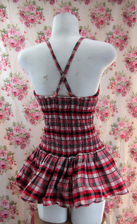 Vintage 1950s Skirted Playsuit size Small 1950s R… - image 8