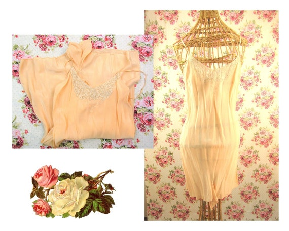 Vintage 1930's 1940's Bias Cut Teddy Negligee Size