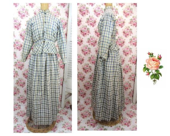 Antique 1800s 2 Piece Dress Size XS-S Antique Pion