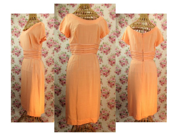 Vintage 1950s Sheath Dress Size M Vintage 50s Shea