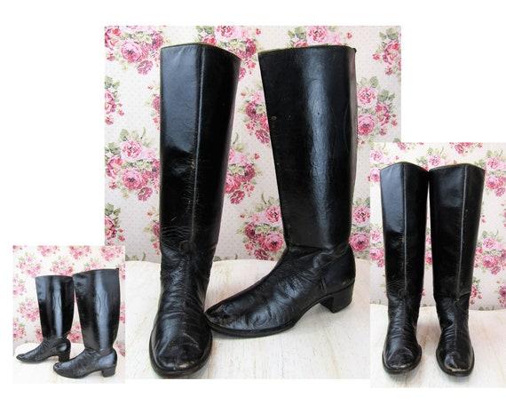 Antique Riding Boots Size 5 Antique Edwardian Ridi