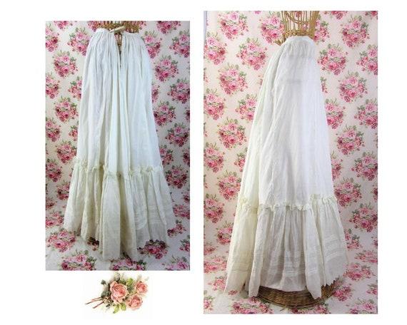 Antique Victorian Petticoat Bustled Petticoat Size