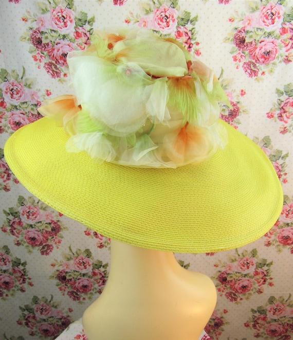 Vintage 1940w 40s Resort Hat 40s  Wide Brimmed St… - image 7