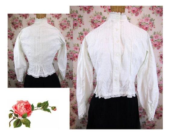 Victorian Blouse Size XS 1800s Victorian Shirtwai… - image 1