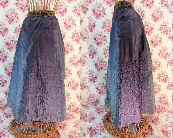 Victorian 1880's Purple Skirt Size XXS 1800s Skirt