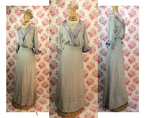 Antique Edwardian Dress Size S to M Edwardian Tea