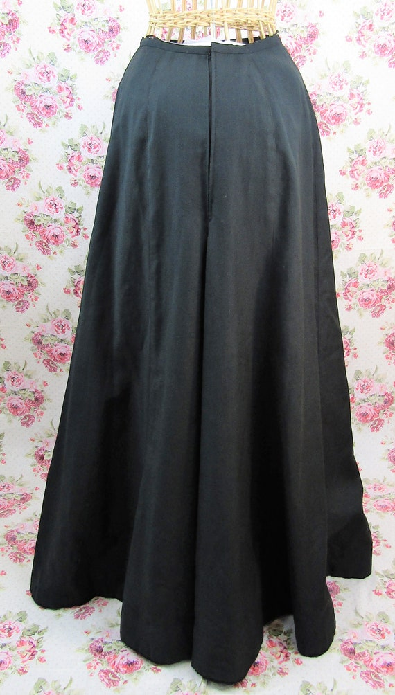 Antique Edwardian Full Length Skirt Size XS Long … - image 4