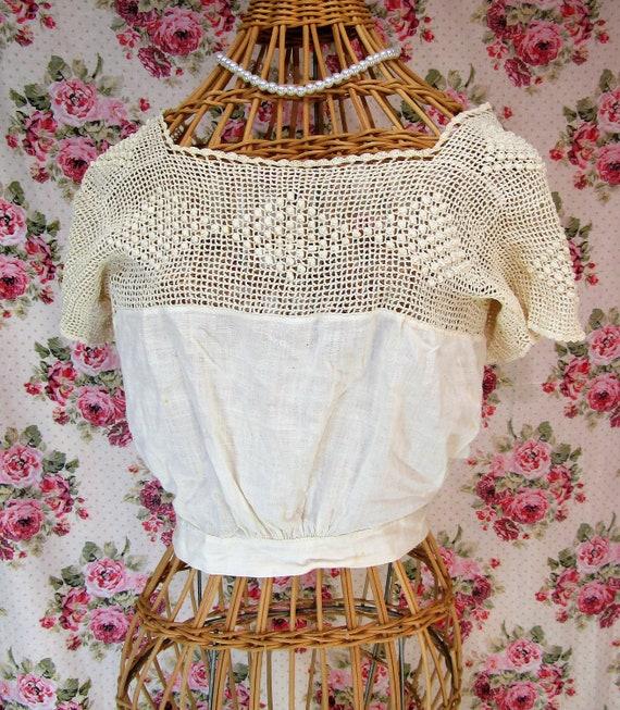 Edwardian Corset Cover Victorian Camisole Crochet