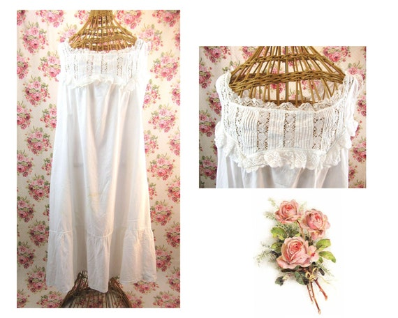 Antique Edwardian Chemise Size Medium  to Large 19