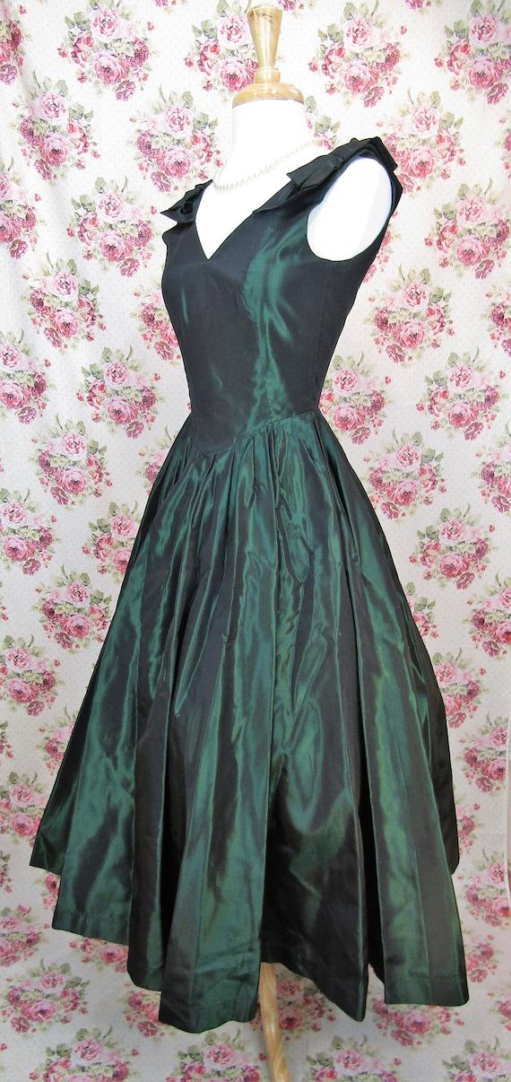Vintage Laura Ashley Dress Size XS Vintage Green … - image 4