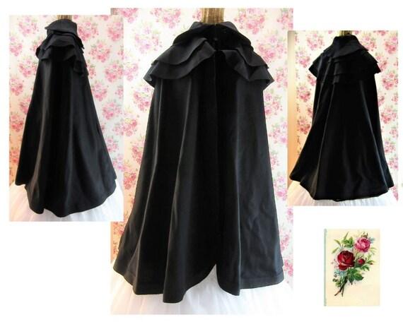 Victorian Cape 1800s Victorian Winter Cloak Antiqu