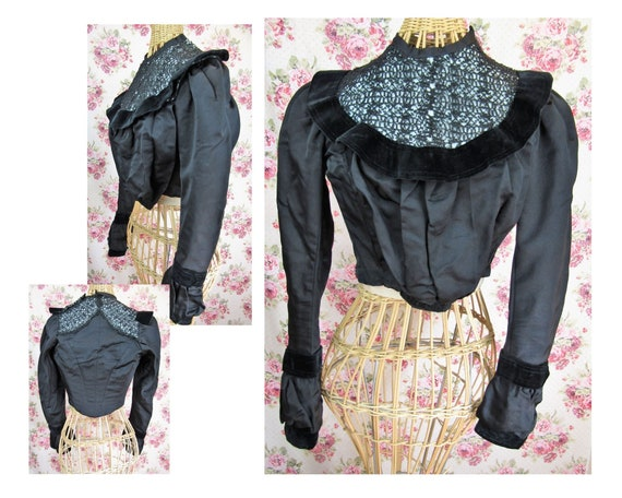 Antique Victorian Boned Bodice Size XS Antique 180