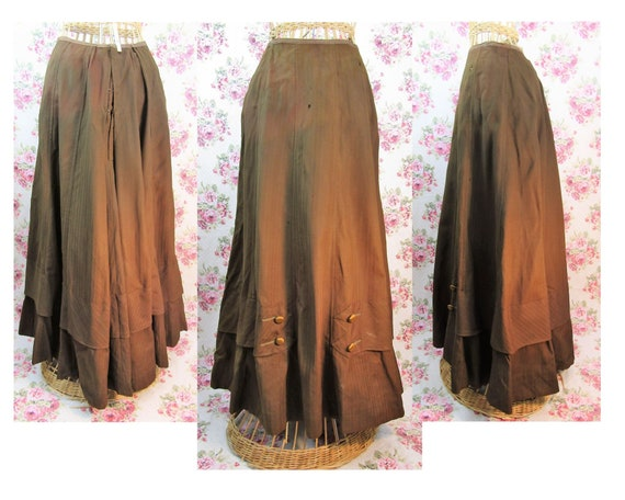 Antique Edwardian Skirt size S Antique 1900s Skirt