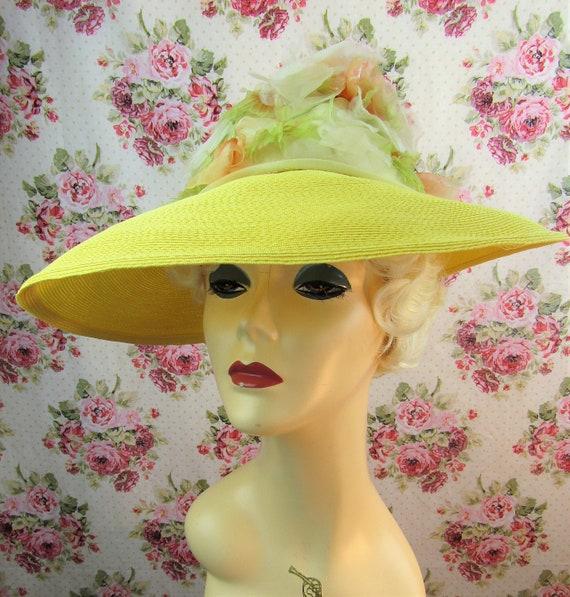 Vintage 1940w 40s Resort Hat 40s  Wide Brimmed St… - image 4