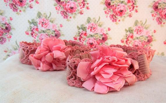 Vintage Garters  Vintage Wedding Garters  Crochete