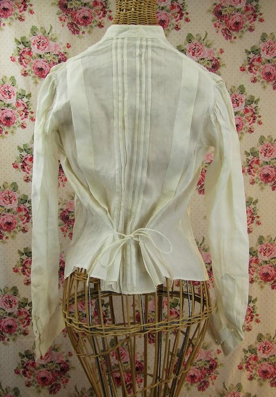 Antique Edwardian Blouse Size Small Antique 1910 … - image 5