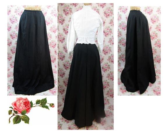 Antique Edwardian Full Length Skirt Size XS Long B