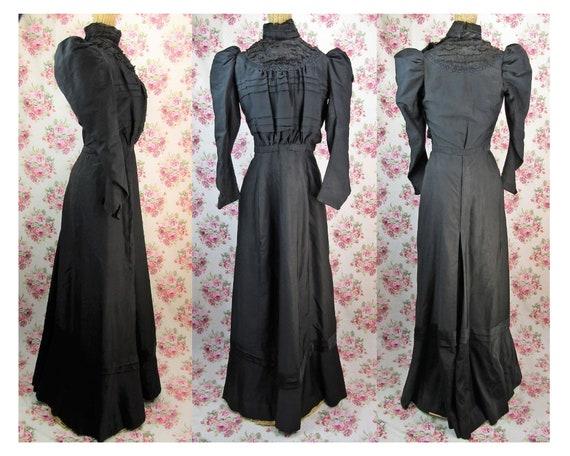Victorian 1897 Gown Size XS Antique 1890's Dress V