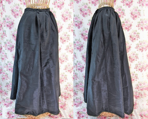 Victorian Skirt Extra Small 1800s Skirt Antique Bl