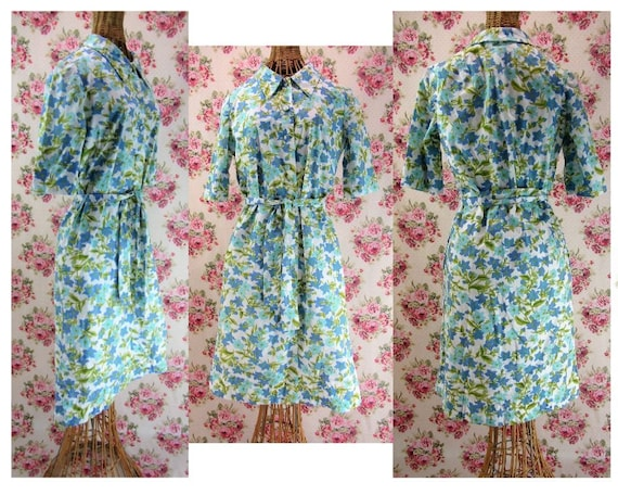 1960s Shirtdress Size Small to Medium Vintage McMu