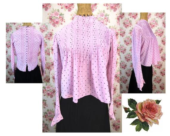 Edwardian Blouse Size XS Pink Edwardian Shirtwaist