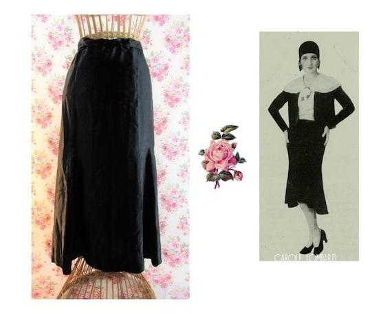 1930s Skirt Size Med-Lg Vintage 1930s Black Bias C