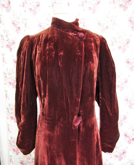 Vintage 1930s 30s Princess Coat Size S Vintage 19… - image 3
