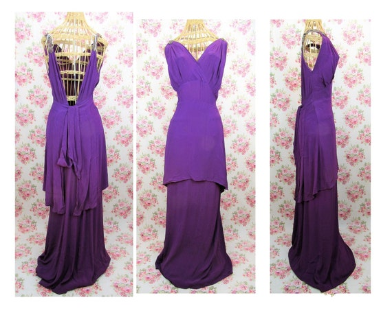 Vintage 1930s 30s Evening Gown Size S/M Vintage 30