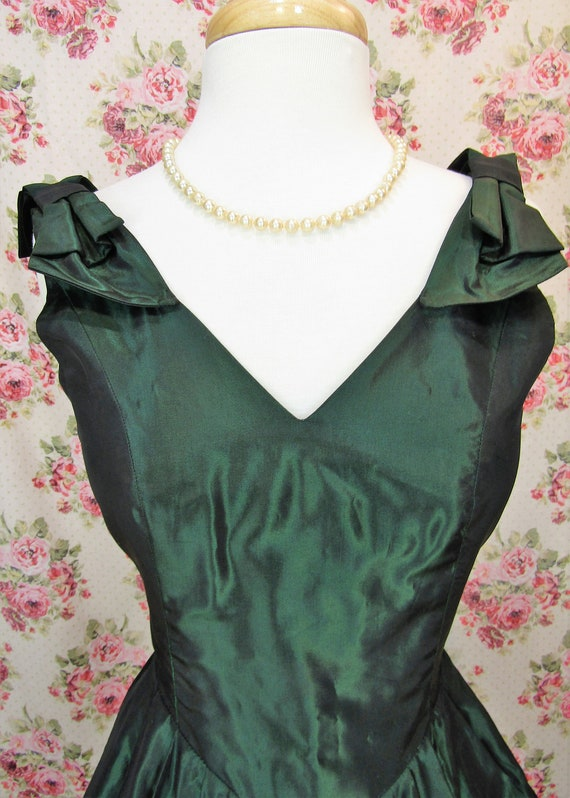 Vintage Laura Ashley Dress Size XS Vintage Green … - image 3