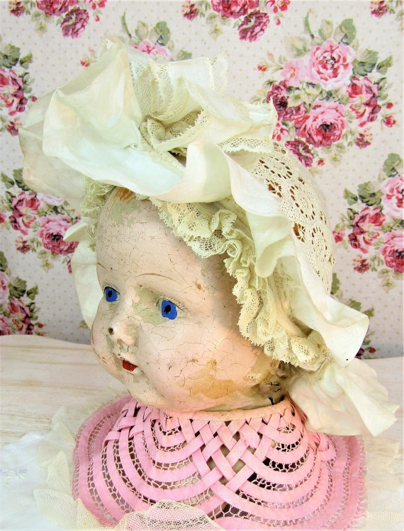 Antique 1800s Victorian Baby Bonnet 6-12 mos Extr… - image 4