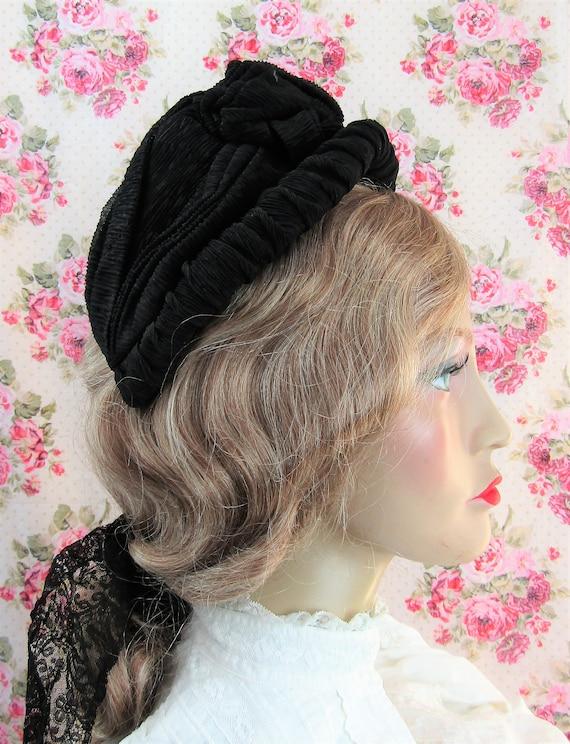Victorian 1800s Bonnet Antique 1860s Victorian Cr… - image 2