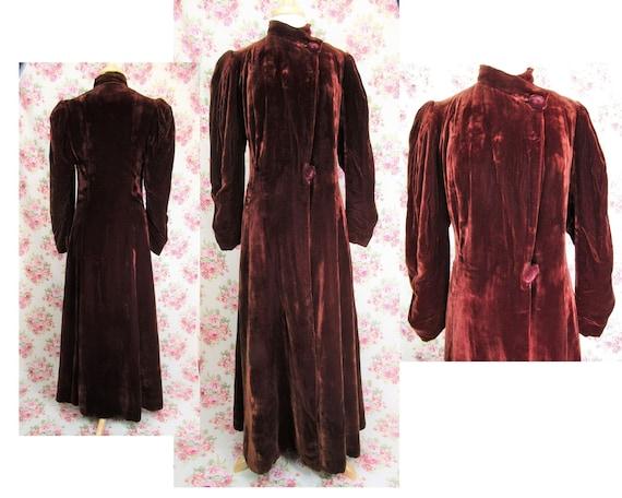 Vintage 1930s 30s Princess Coat Size S Vintage 193