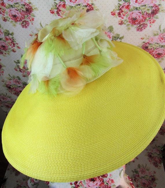 Vintage 1940w 40s Resort Hat 40s  Wide Brimmed St… - image 3