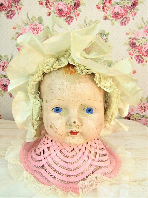 Antique 1800s Victorian Baby Bonnet 6-12 mos Extr… - image 2