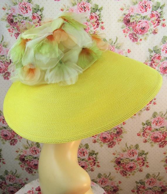 Vintage 1940w 40s Resort Hat 40s  Wide Brimmed St… - image 8