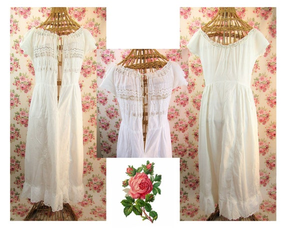 Antique Edwardian Chemise Size Small Antique Early