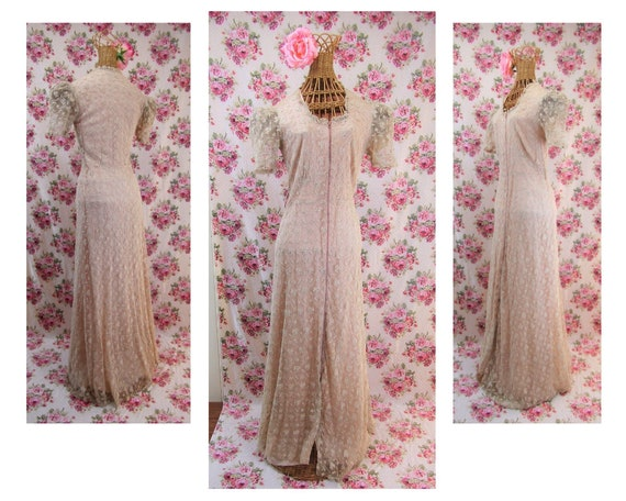 1930s Dressing Gown Size S Vintage 30s Glamour Hos
