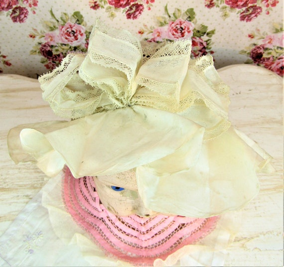 Antique 1800s Victorian Baby Bonnet 6-12 mos Extr… - image 3