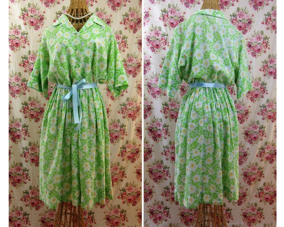 1960s Print Shirtdress Vintage 1960s Print Dress D