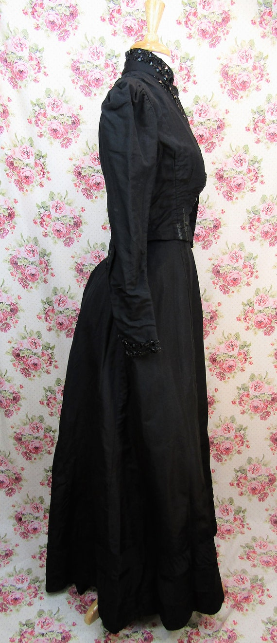Victorian Walking Suit Size XXS Antique 1890's Bu… - image 9