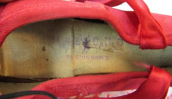 Vintage Ballet Shoes Vintage Red Satin Ballet Sho… - image 4