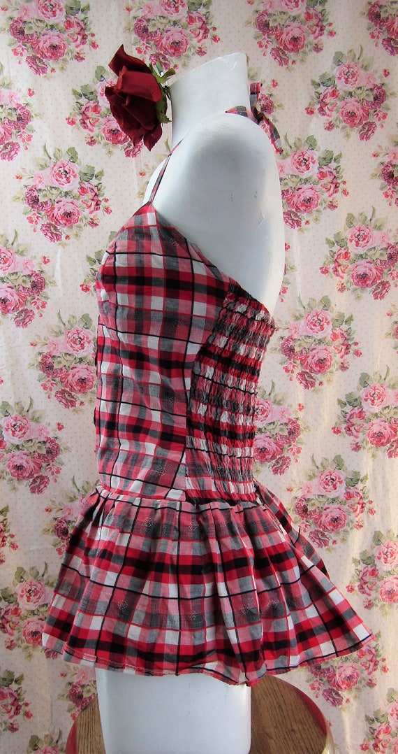 Vintage 1950s Skirted Playsuit size Small 1950s R… - image 5