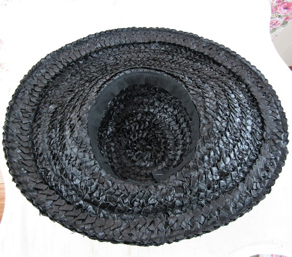 Vintage 1930s 30s Straw Picture Hat Vintage 30s C… - image 10