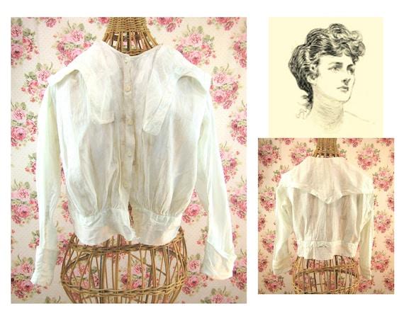 Antique Edwardian Blouse Shirtwaist  Size Mediun A
