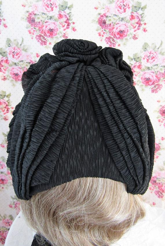 Victorian 1800s Bonnet Antique 1860s Victorian Cr… - image 4